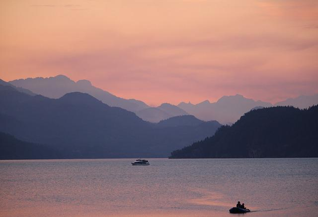 Harrison Hot Springs, British Columbia, Sunset, Sky