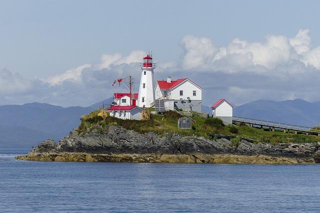 Lighthouse, Green Island, British Columbia, Canada