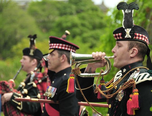 British, Royal Scots Dragoon, Edinburgh, Scotland, Band