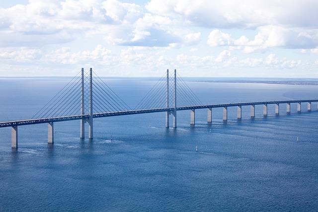 The öresund Bridge, Malmö, Bro, Aerial Photo