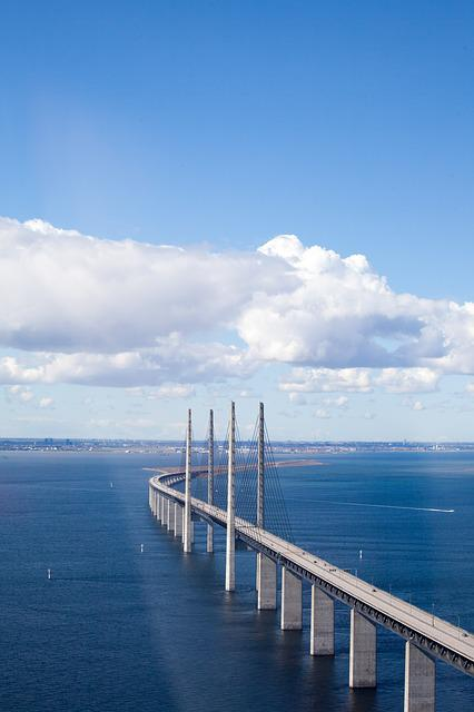 The öresund Bridge, Malmö, Bro, Aerial Photo