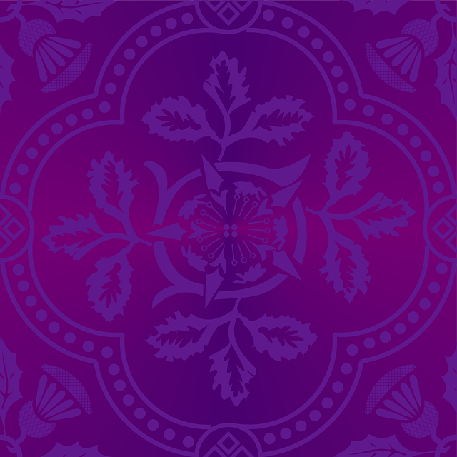 Cloister, Advent, Purple, Brocade, Tessellation