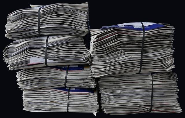 Newspapers, Brochures, Stack, Paper Stack, Waste Paper