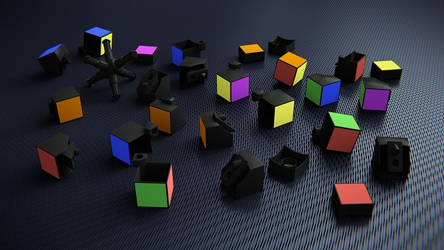 Rubik's Cube, 3d, Broken, Items