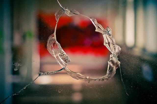 Glass, Window, Old Window, Disc, By Looking, Broken