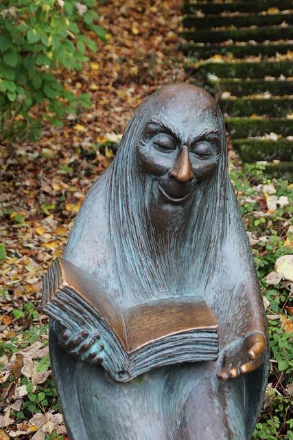 Gnome, Dwarf, Old, Statue, Bronce, Park