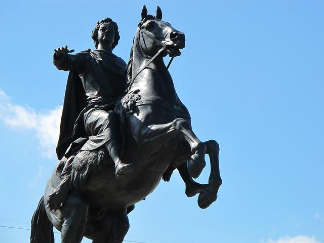 Russia, Statue, Bronze Horseman, St Petersburg