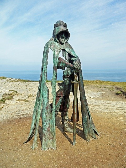 King, Artus, Metal, Sculpture, Bronze, Excalibur