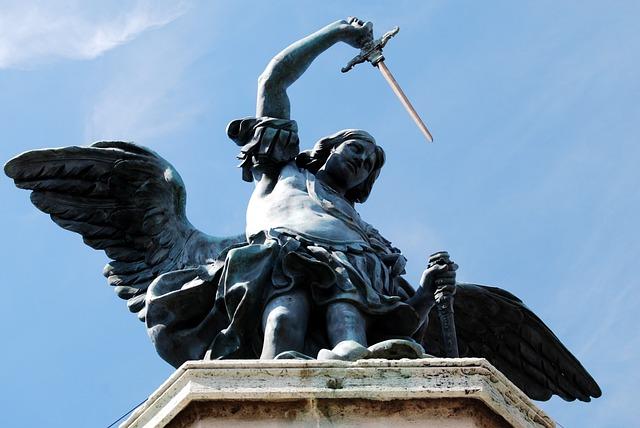 Castel Sant'angelo, Statue, Angel, Bronze, Rome