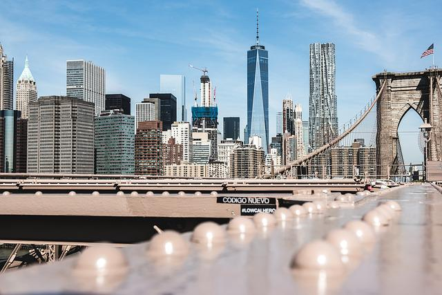 Usa, New York, Manhattan, Brooklyn Bridge