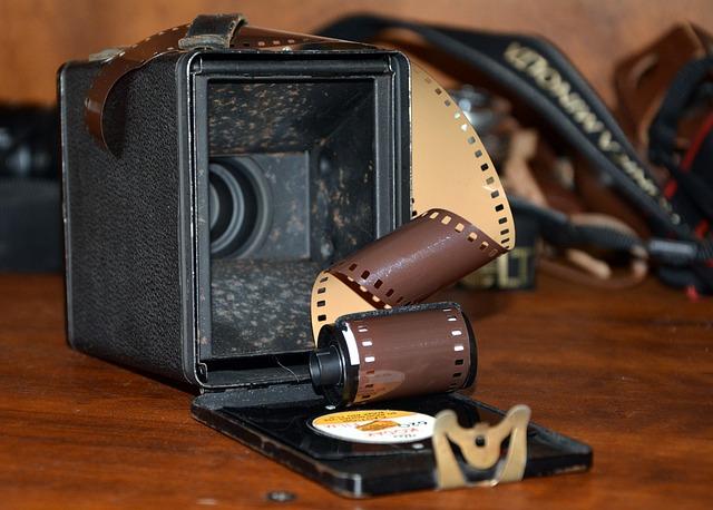 Camera Film, Old Camera, Nostalgia, Brown Camera