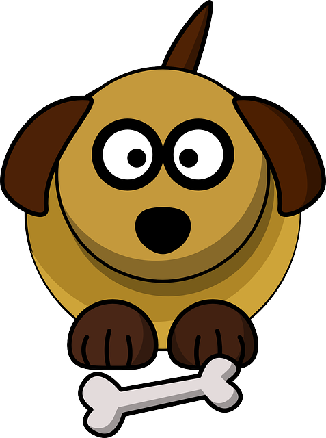 Dog, Pet, Bone, Sit, Brown, Cartoon, Wait, Play