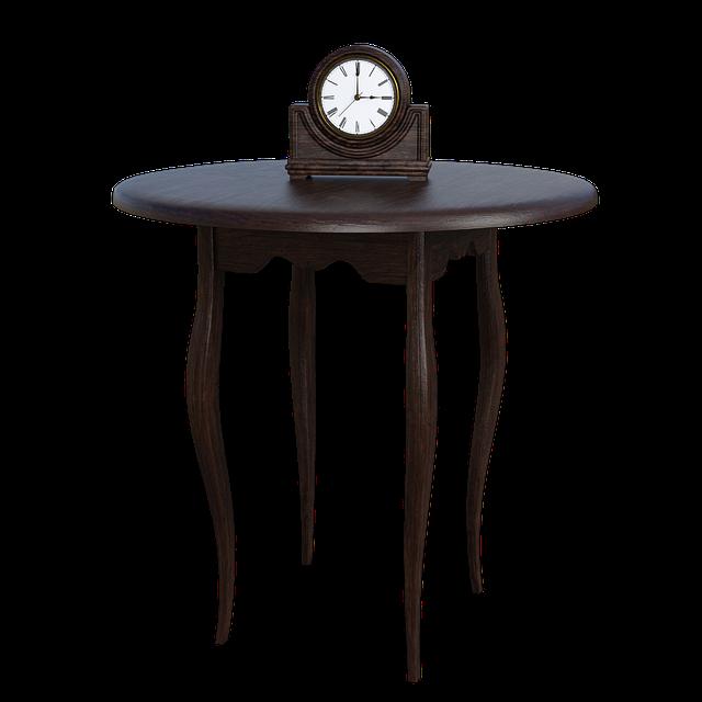 Table, Clock, Time, Brown, Wood Board, Wood, Grain