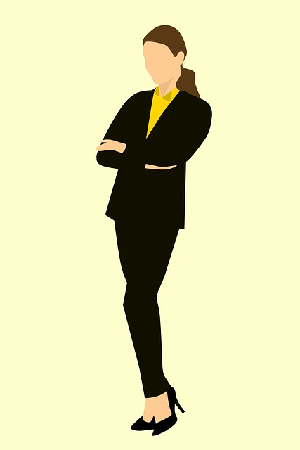Business Woman, Standing, Arms Crossed, Brown Hair