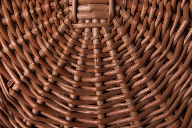 Texture, Wicker Basket, Brown