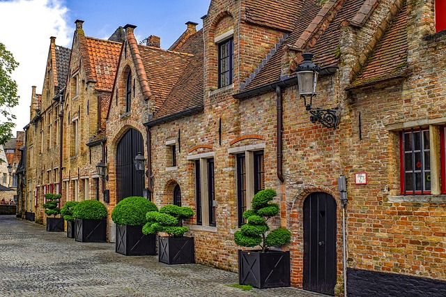 Building, House, Facade, Brick, Architecture, Bruges