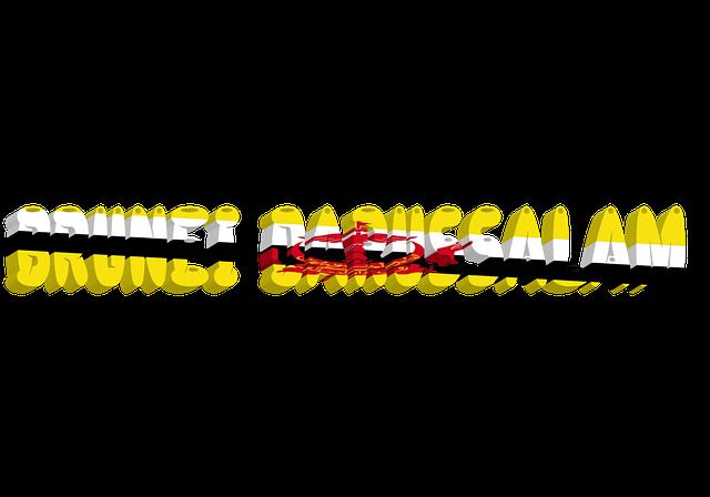 Brunei, Country, International, Flag, 3d