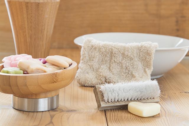 Bad, Wash, Soap, Brush, Washcloth, Bowl, Body Care