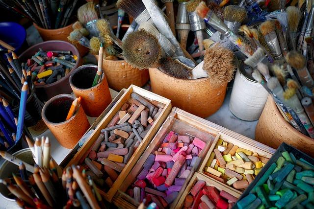 Brush, Chalk, Color, Artists, Atelier, Paint, Colorful