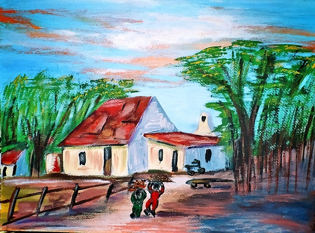 Painting, Art Work, Acrylic Paint, Brush Strokes