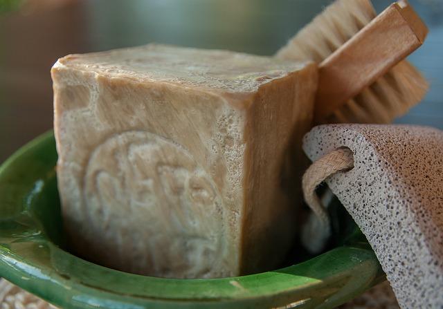 Aleppo Soap, Brush, Pumice Stone, Toilet