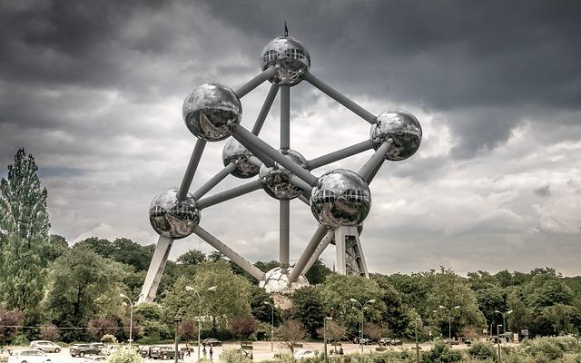 Brussel, Atomium, Landmark, Atom Monument, Belgium