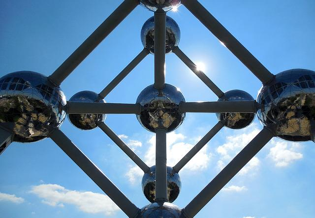 Brussels, Atomium, From The Bottom