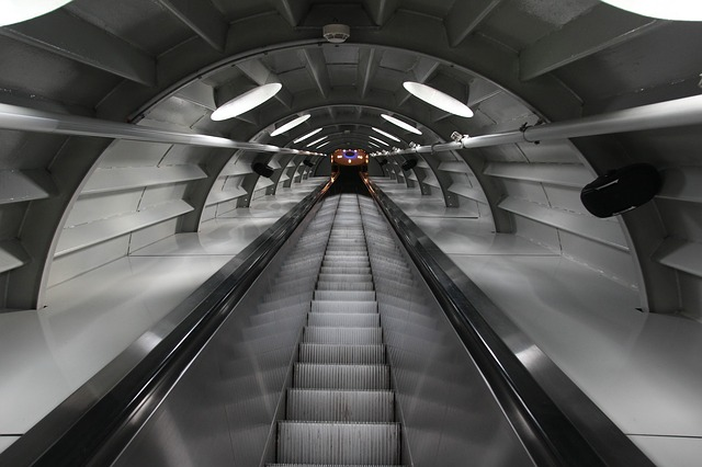 Escalator, Atomium, Brussels, Landmark