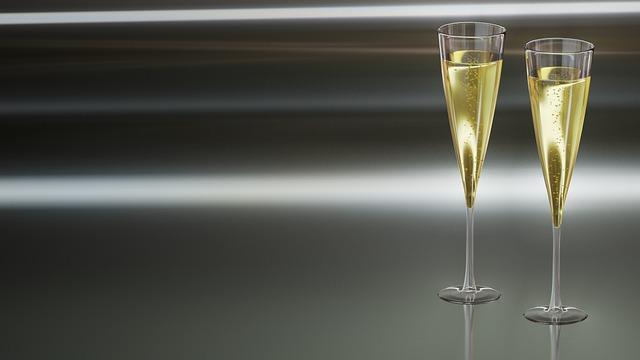 Champagne, Glasses, Glass, Celebration, Bubble