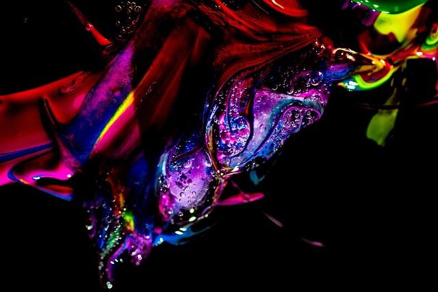 Gel, Fantastic, Colors, Bubbles, Water