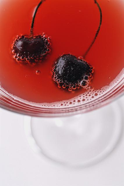 Cherry, Drink, Cosmopolitan, Cocktail, Bubbles