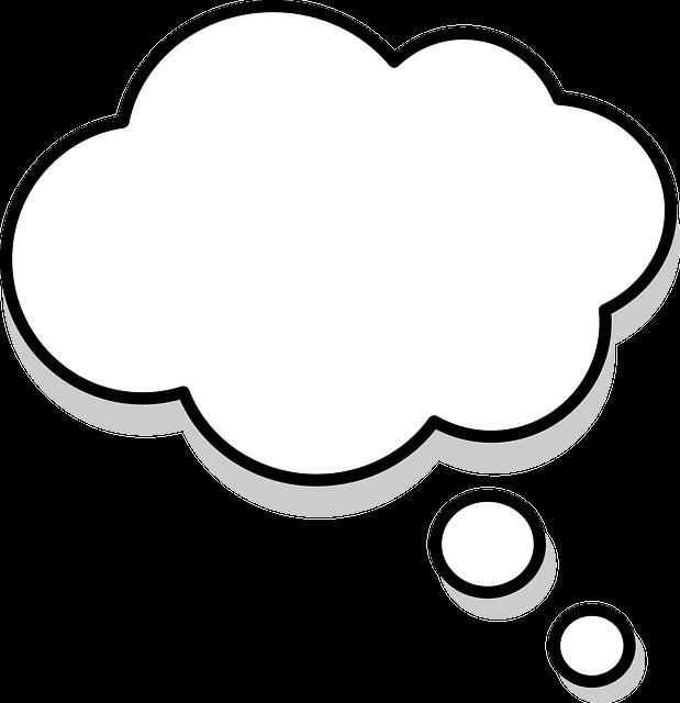 Thinking, Thought, Bubbles, Speech Bubbles, Cartoon
