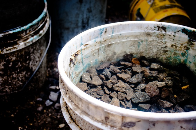 Buckets, Bucket, Water, Stones, Rocks, Industry