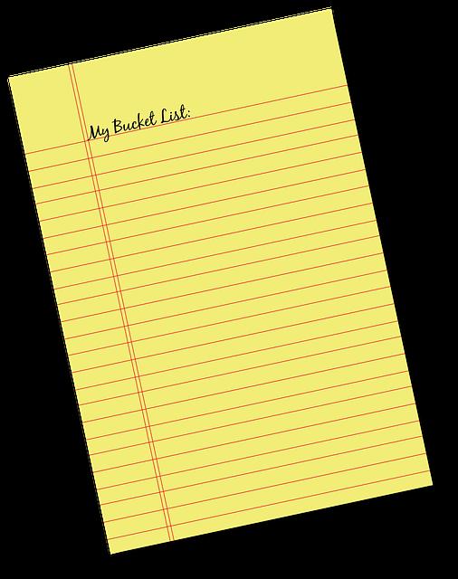 Memo, Note, Bucket List, List, Agenda, Journal