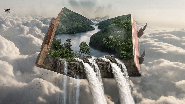 Buckled Book, Book, Fantasy, Photoshop, Hover, Cloud
