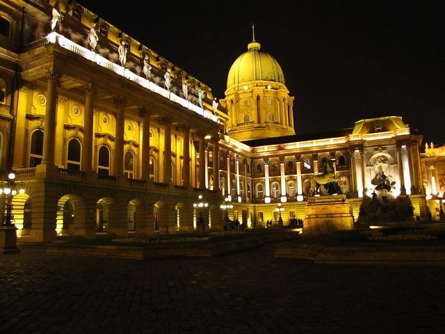 Buda, Building, In The Evening, Lighting, Illuminations