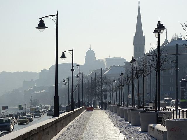 Budapest, Hungary, Buda, Backlight, The Danube, Castle