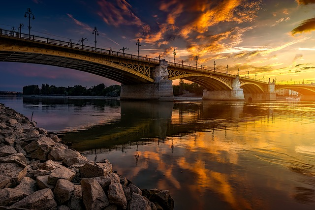 Budapest, Hungary, Bridge, Architecture, Danube River