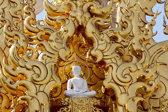 Buddah, Wat Rong Khun, Temple, Thailand, White Temple
