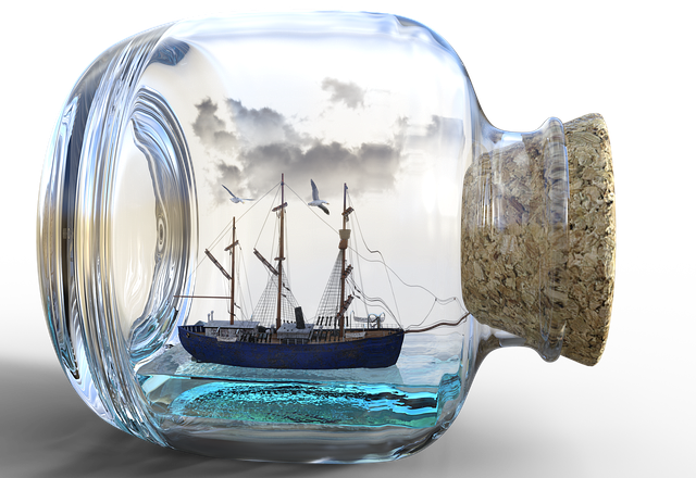 Buddelschiff, Ship, Bottle, Art, Cork, Glass