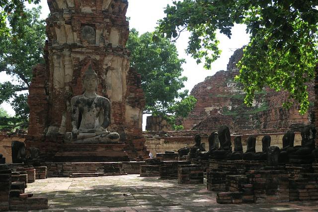 Ayutthaya, Thailand, Buddha, Ruin, Old Temple