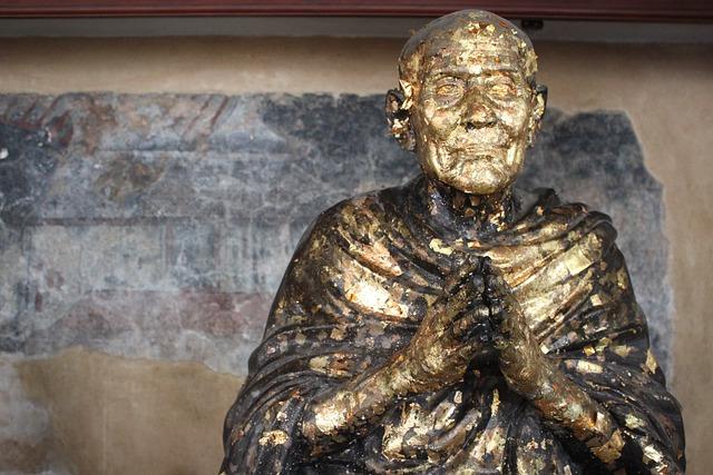 Gold, Buddha, Statue, Face, Golden Buddha, Asia