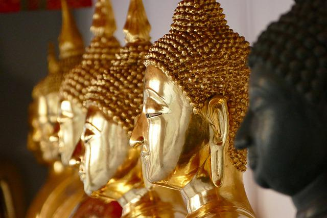 Golden, Buddha, Ornament, Statue, Sculpture, Religion