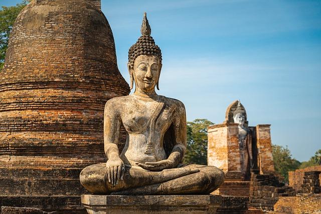 Buddha, Statue, Thailand, Buddhism, Meditation, Ruins