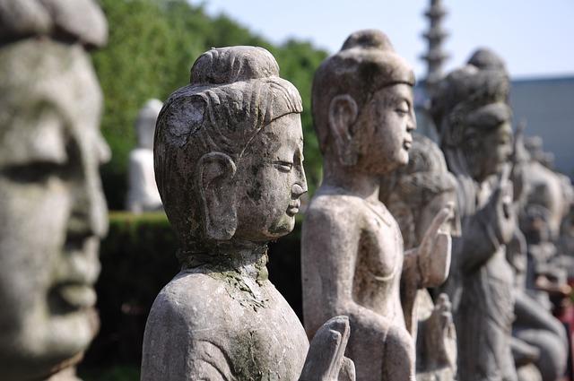 Buddha Statues, China, Zhou Park
