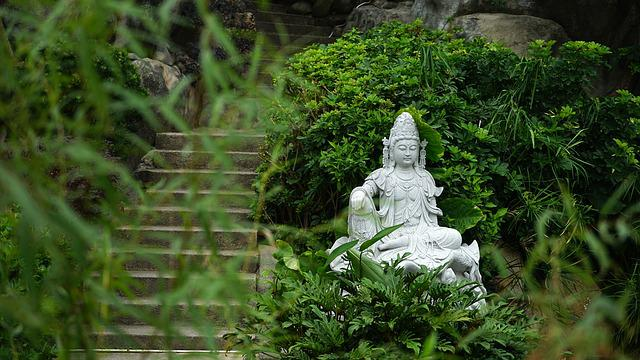 China, Buddha Statues, Religion, God, Sculpture