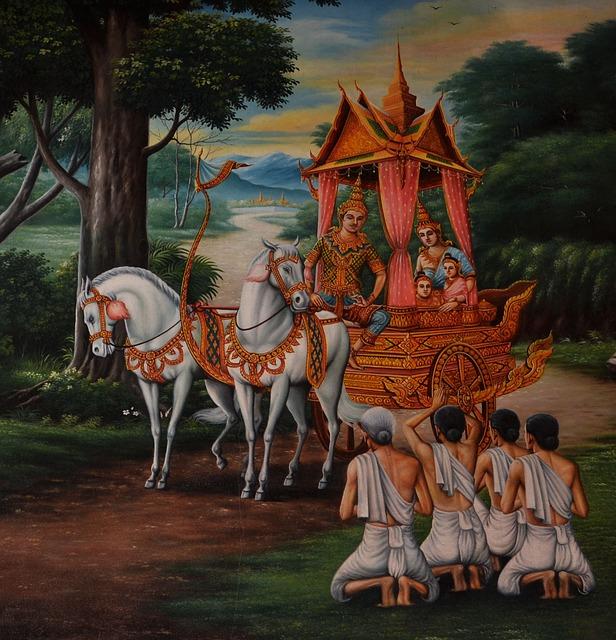 Hoses, Thailand, Carriage, Buddha, Krishna, Asia