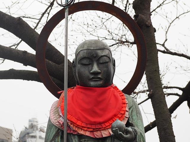 Bronze Statue, Buddhism, Japan, Jizo, Temple