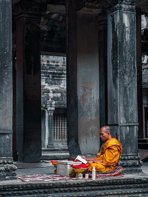 Monk, Temple, Meditation, Buddha, Buddhism, Religion