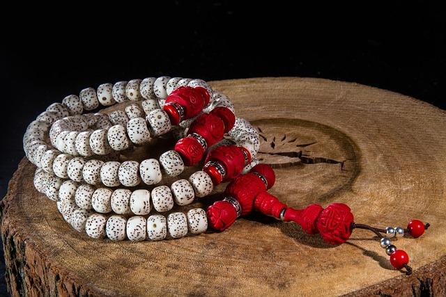 Moon And Stars Bodhi, Buddhist Prayer Beads, Nepal